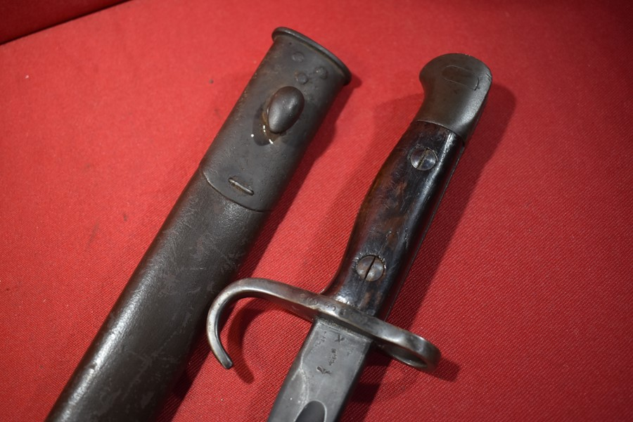 WW1 303 HOOKED QUILLON BAYONET BY WILKINSON AUSTRALIAN ISSUE TO 5MD (WA)