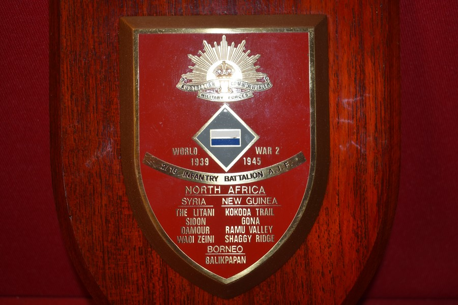 AUSTRALIAN 2/16 BATTALION WALL PLAQUE