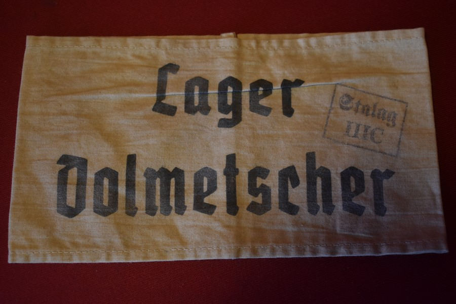 WW2 GERMAN ARMBAND FROM STALAG 111C