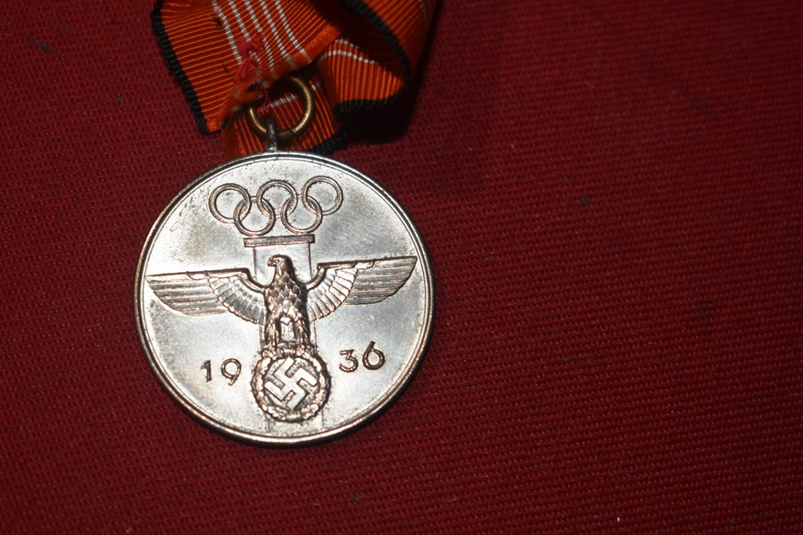 WW2 GERMAN 1936 OLYMPIC MEDAL-SOLD
