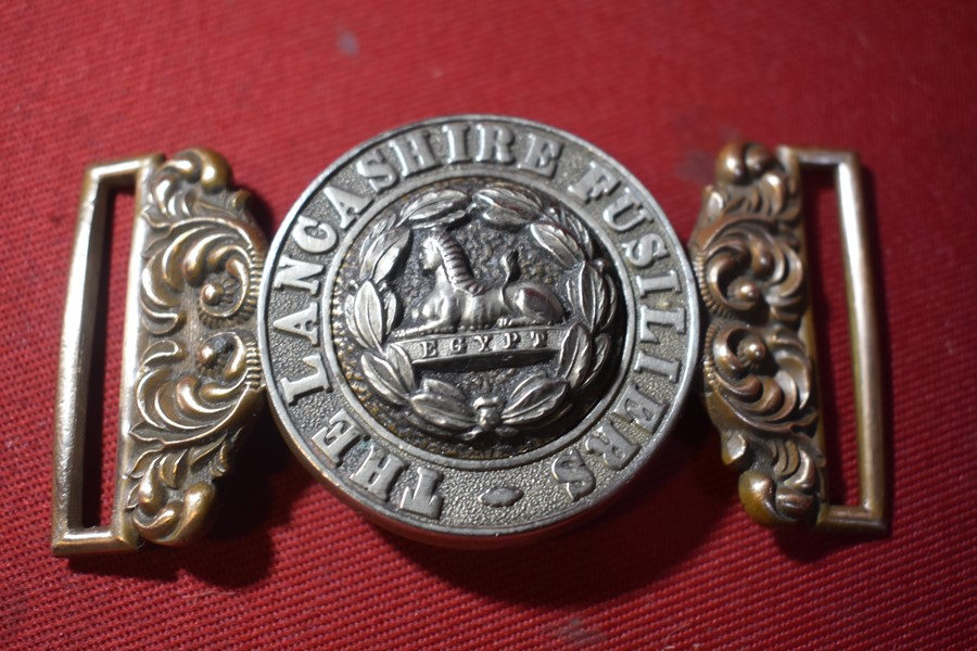 WW1 LANCASHIRE FUSILIERS OFFICERS DRESS BUCKLE-SOLD