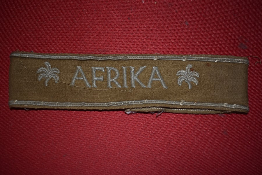 WW2 GERMAN AFRIKA CUFF TITLE