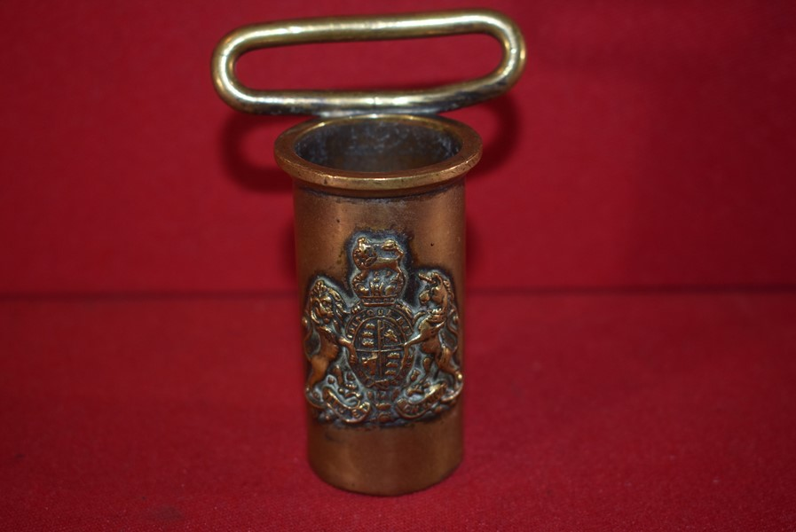 WW1 PERIOD BRASS FLAG POLE HOLDER