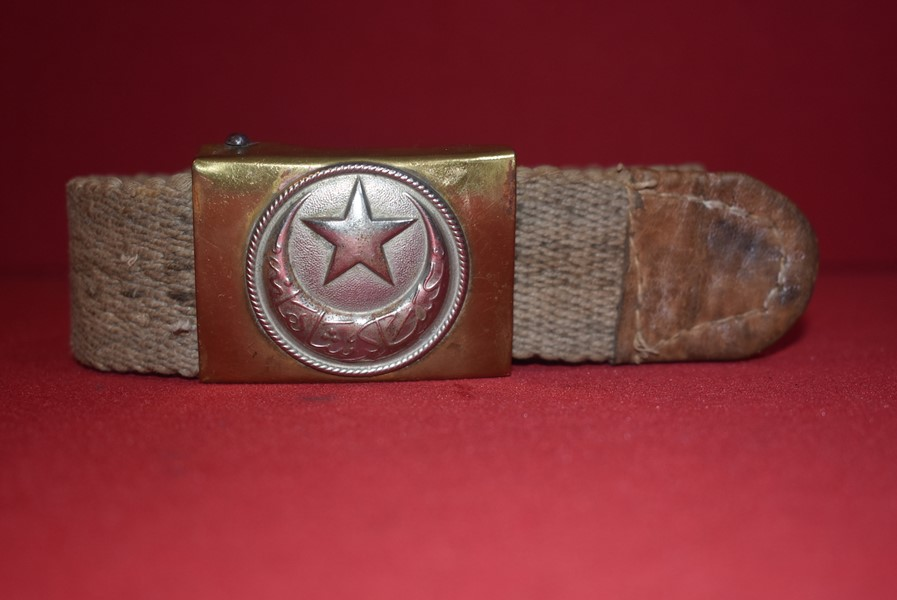 WW1 TURKISH OFFICERS WEB BELT AND BUCKLE