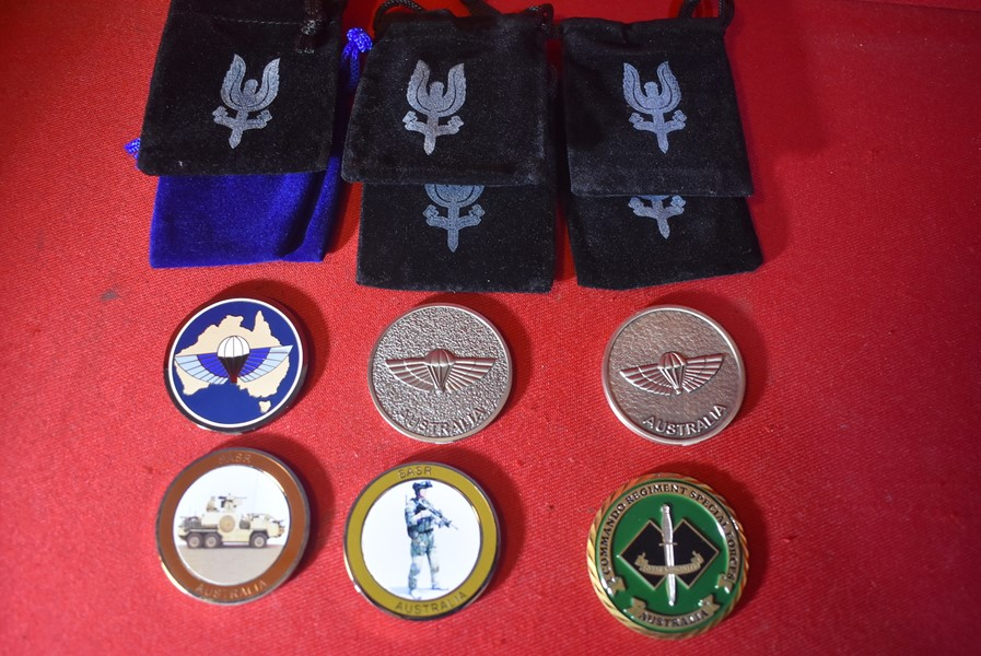 SASR AND 2ND COMMANDO REGIMENT CHALLENGE COINS