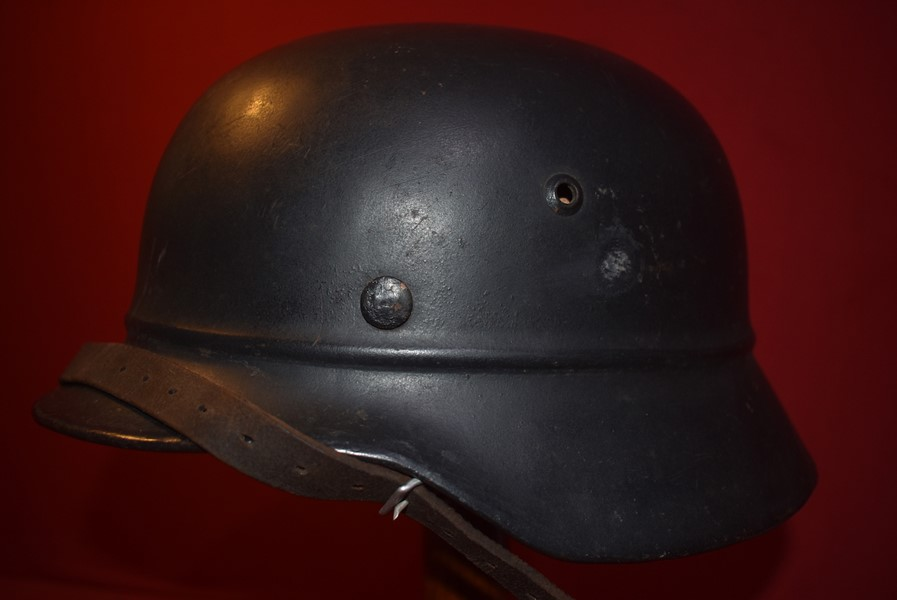 WW2 GERMAN M40 BEADED RIM HELMET