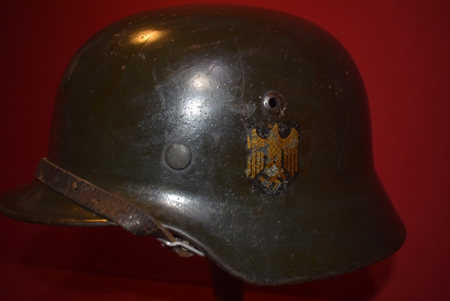 WW2 GERMAN M35 KRIEGSMARINE SINGLE DECAL HELMET