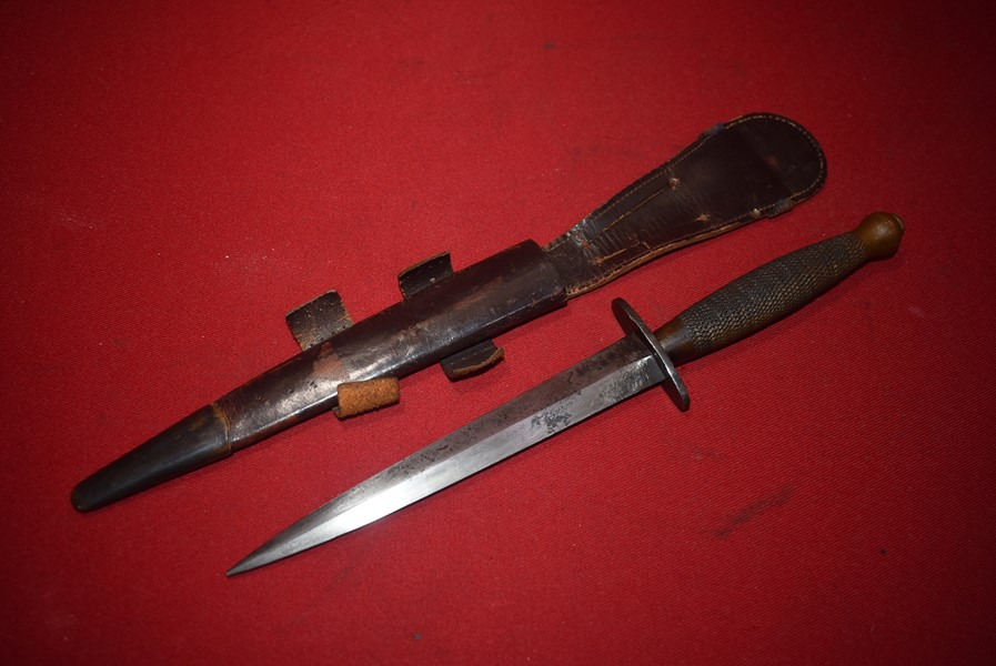 WW2 BRITISH 2nd PATTERN FAIRBURN-SYKES FIGHTING KNIFE BROAD ARROW MARKED
