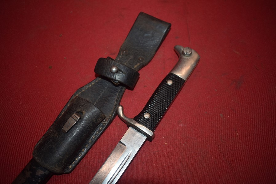 WW2 GERMAN SOLDIERS PARADE BAYONET AND FROG-SOLD