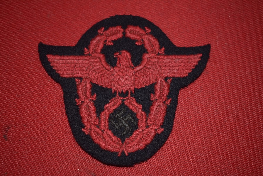 WW2 GERMAN FIRE POLICE SLEEVE EAGLE
