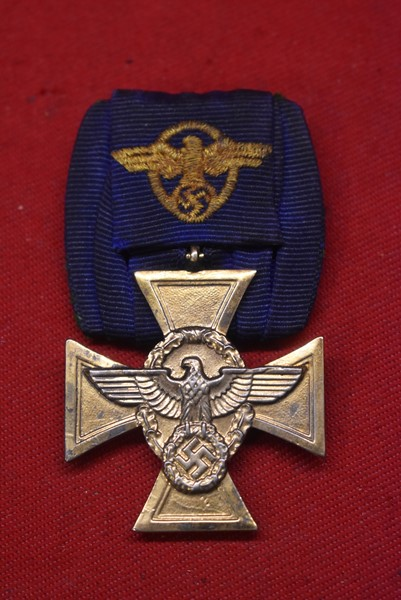 WW2 GERMAN POLICE LONG SERVICE AWARD 25 YEARS