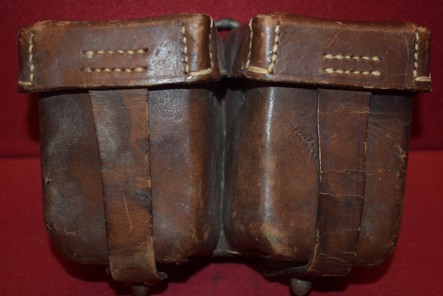 WW1 GERMAN M95 AMMO POUCHES FOR THE MANNLICHER RIFLE DATED 1918