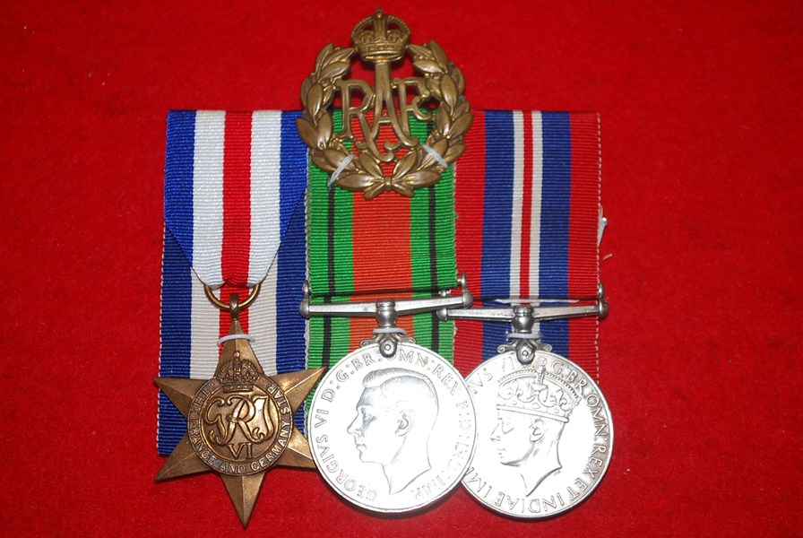 WW2 BRITISH 3 MEDAL GROUP