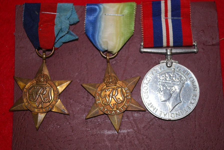 WW2 BRITISH 3 MEDAL GROUP. b-SOLD