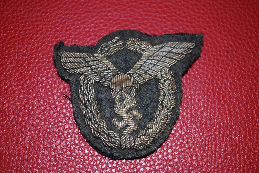 WW2 LUTWAFFE OFFICERS CLOTH BADGE-SOLD