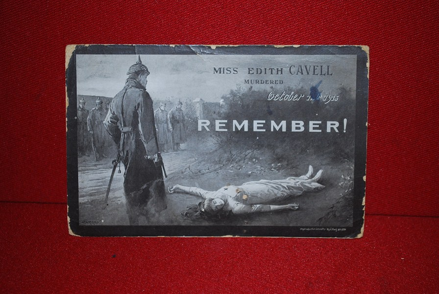 WW1 BRITISH POSTCARD EXECUTION OF EDITH CAVELL-SOLD