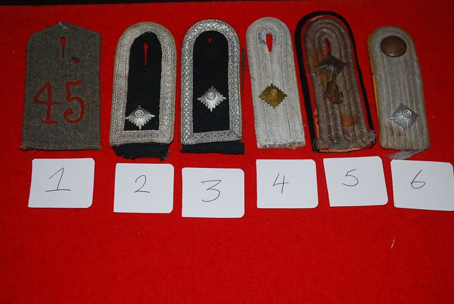 SELECTION OF GERMAN SHOULDER BOARDS