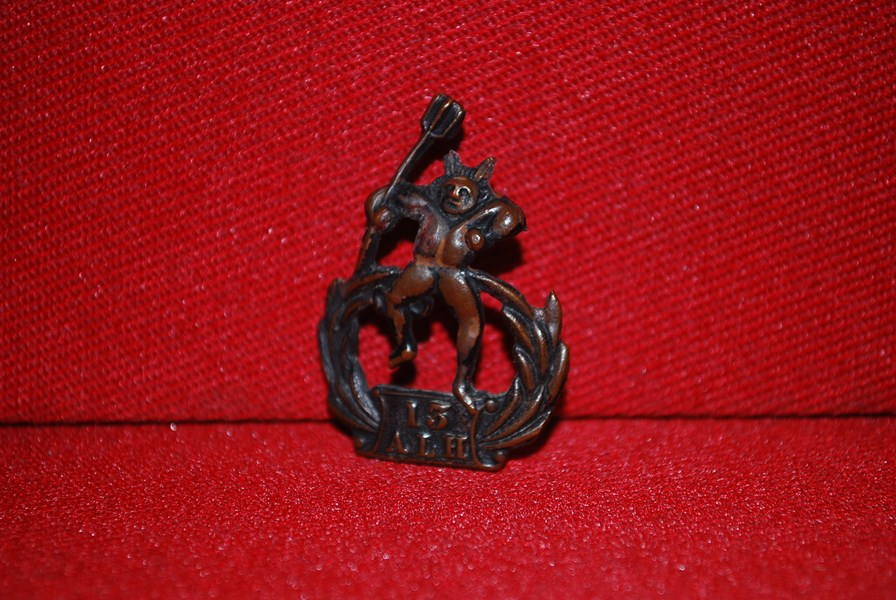 13 AUSTRALIAN LIGHT HORSE COLLAR BADGE-SOLD