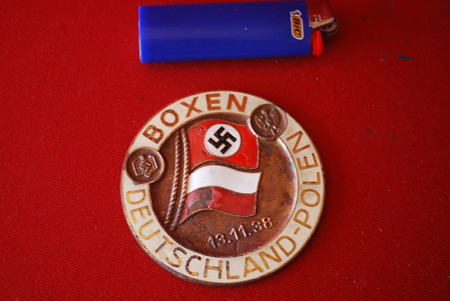 WW2 GERMAN BOXING MEDALLION-SOLD