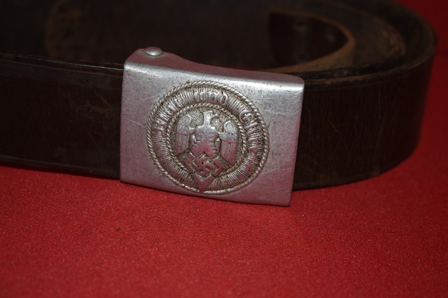 WW2 GERMAN HITLER YOUTH BELT AND BUCKLE-SOLD
