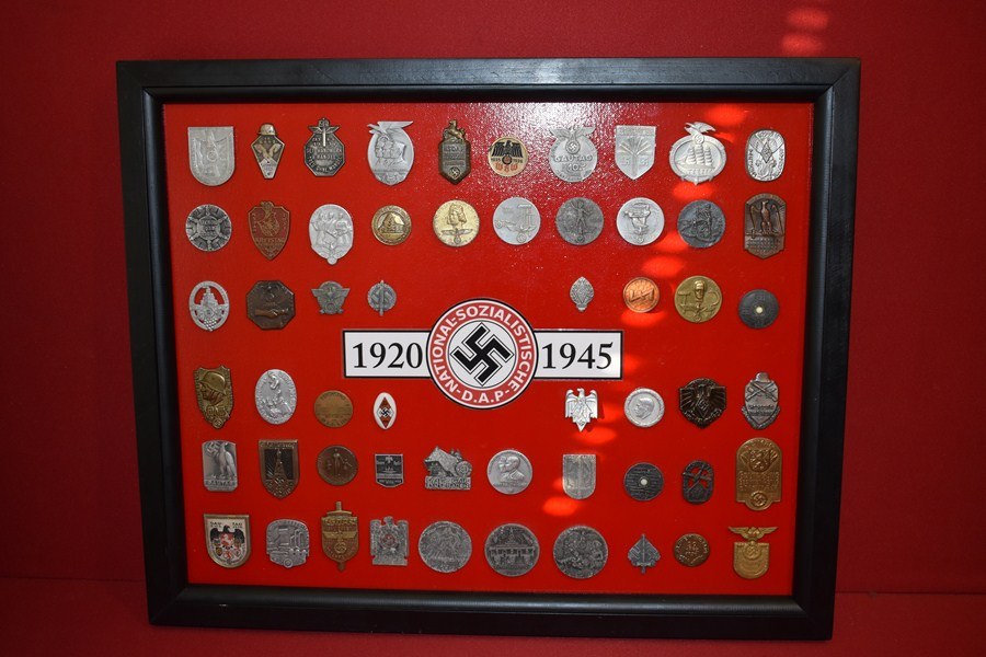 COLLECTION OF WW2 GERMAN TINNIES AND PINS-SOLD