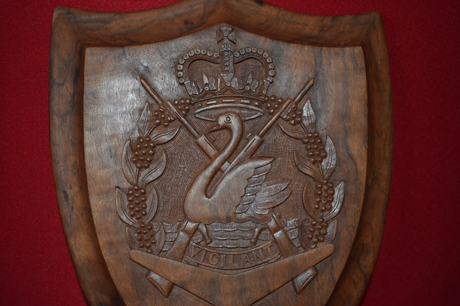 11 BATTALION ROYAL WESTERN AUSTRALIAN REGIMENT WOODEN PLAQUE