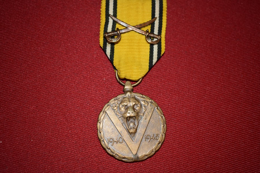 WW2 BELGIUM WW2 COMMEMORATIVE MEDAL