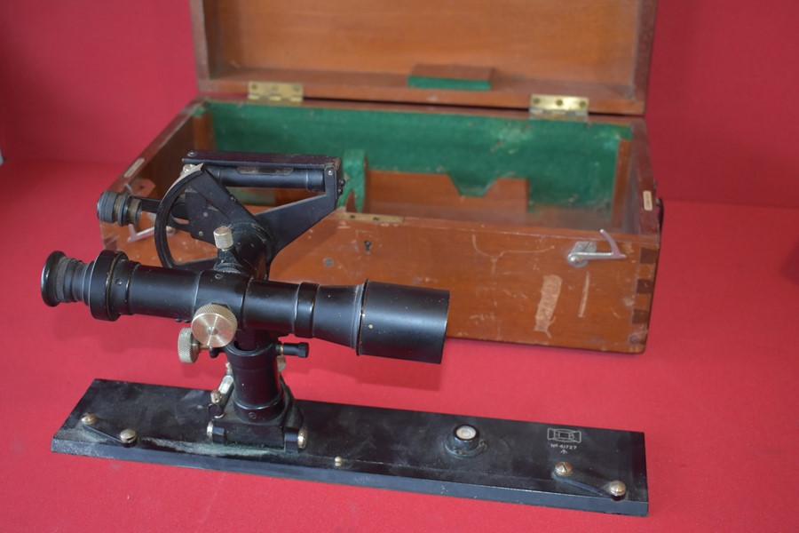 WW2 PERIOD BOXED MILITARY SURVEYING INSTRUMENT HB 41727-SOLD