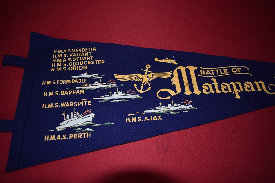 WW2 AUSTRALIAN FELT PENNANT BATTLE OF MATAPANO
