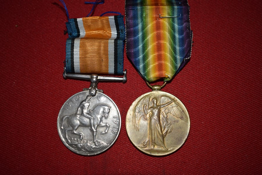 WW1 AUSTRALIAN MEDAL PAIR WESTERN AUSTRALIAN. WOUNDED IN ACTION (GASSED)