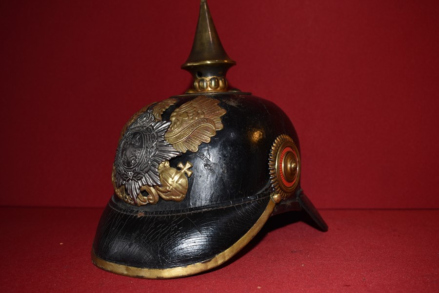 1895 MODEL GERMAN SPIKE HELMET STATE OF REUSSE-SOLD