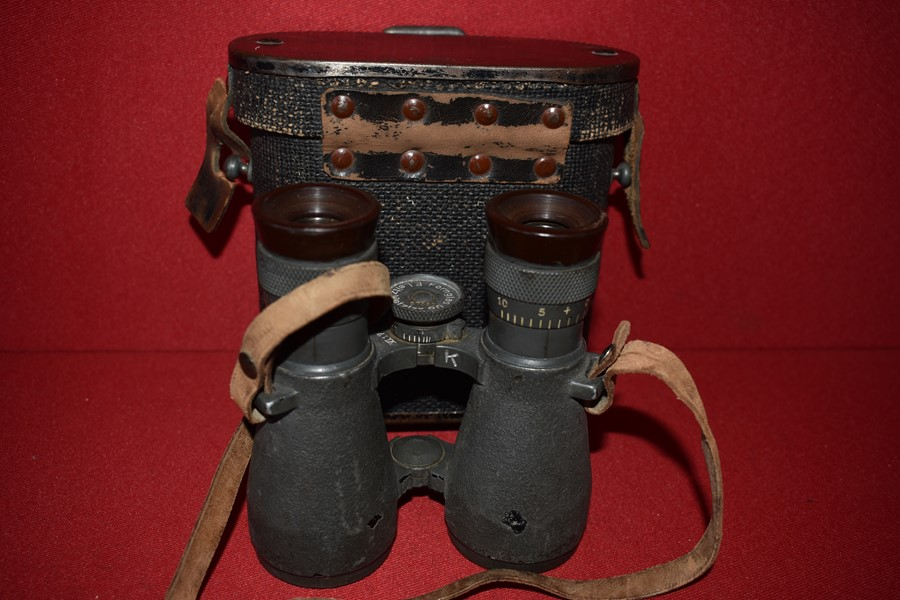 CASED WW1 GERMAN OFFICERS BINOCULARS..