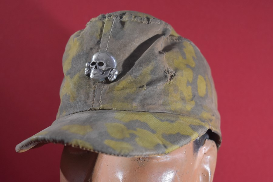 WW2 GERMAN SS CAMO FIELD CAP