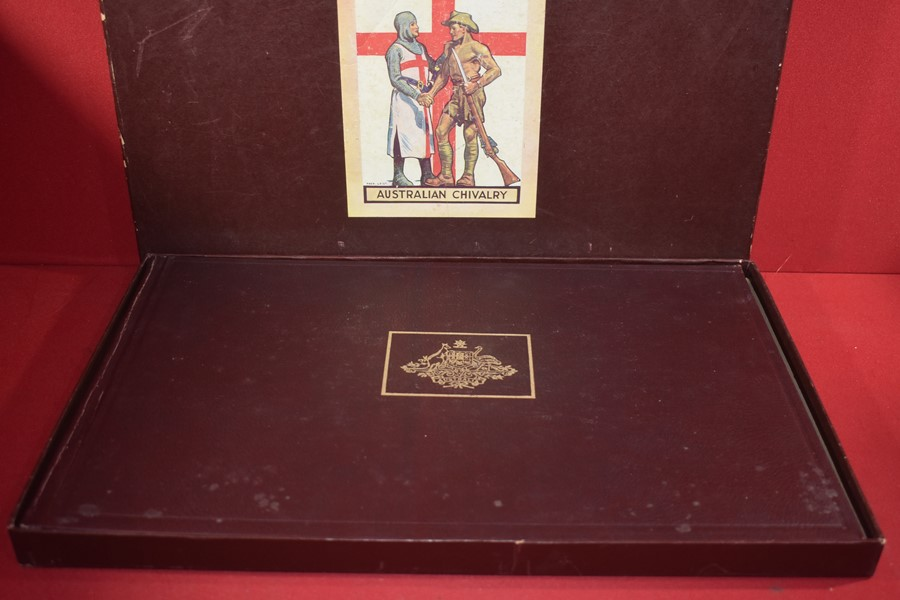 AUSTRALIAN WAR MEMORIAL BOOK AUSTRALIAN CHIVALRY. -SOLD