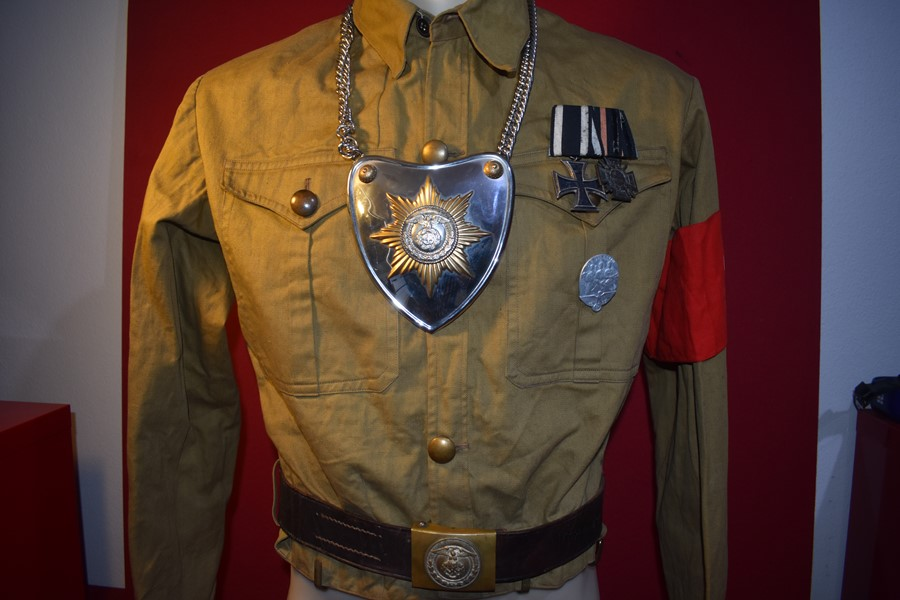 WW2 GERMAN POLITICAL/NSDAP SHIRT AND ACCESSORIES