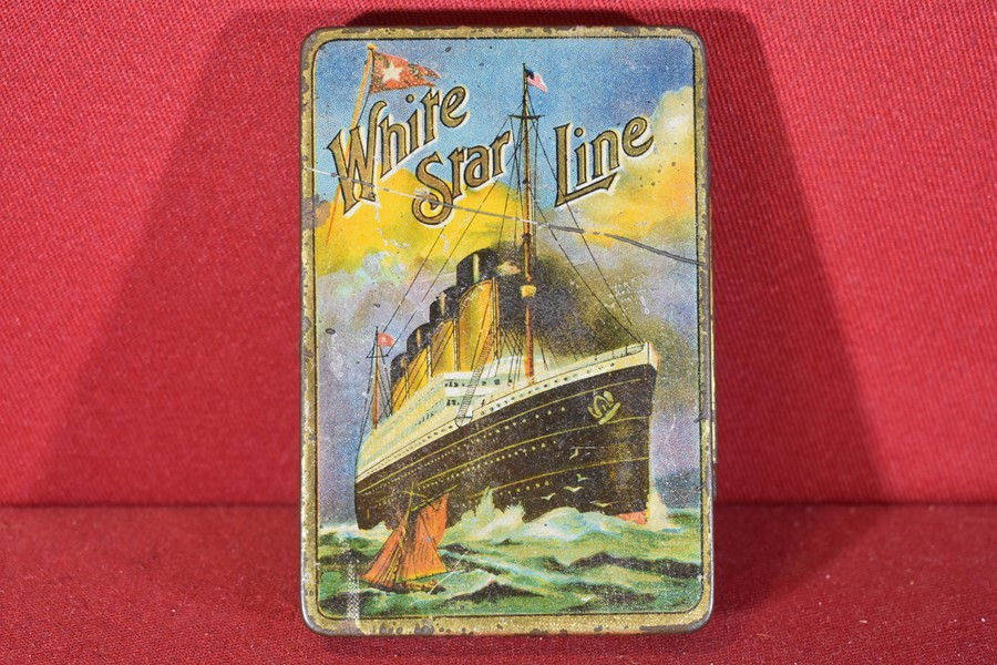 WHITE STAR LINE TOBACCO TIN OLYMPIC-SOLD