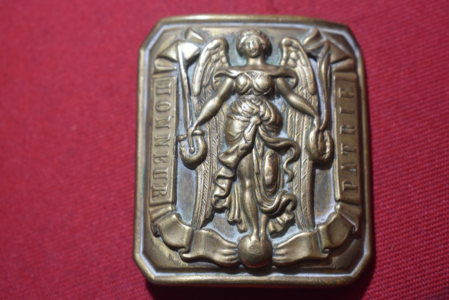 FRENCH ARMY OFFICERS BELT BUCKLE-LOUIS PHILIPPE