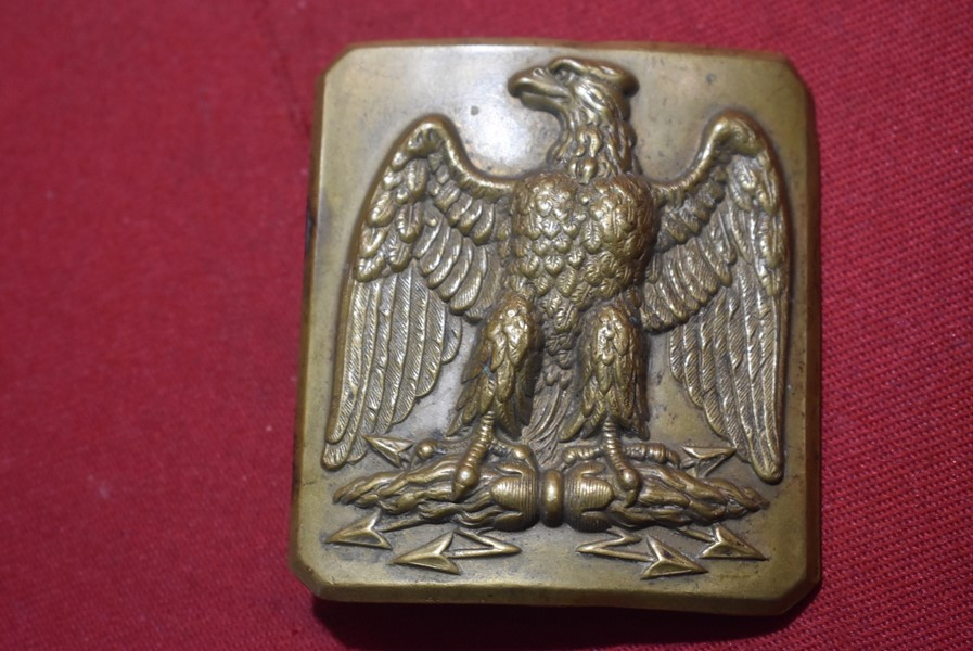 A FRENCH SECOND EMPIRE NAPOLEON III BELT BUCKLE