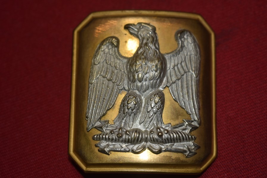 FRENCH SECOND EMPIRE NAPOLEON III CAVALRY OFFICERS BELT BUCKLE