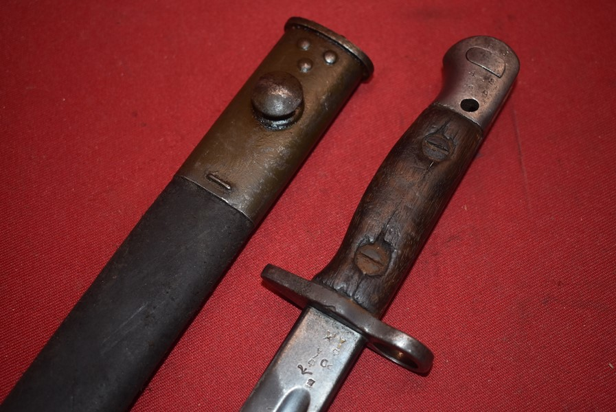 BRITISH WW1 PATT 1907 BAYONET FOR THE PATT 14 ENFIELD RIFLE BY REMINGTON