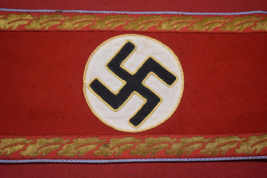 WW2 GERMAN NSDAP ORTS LEVEL POLITICAL LEADERS ARMBAND