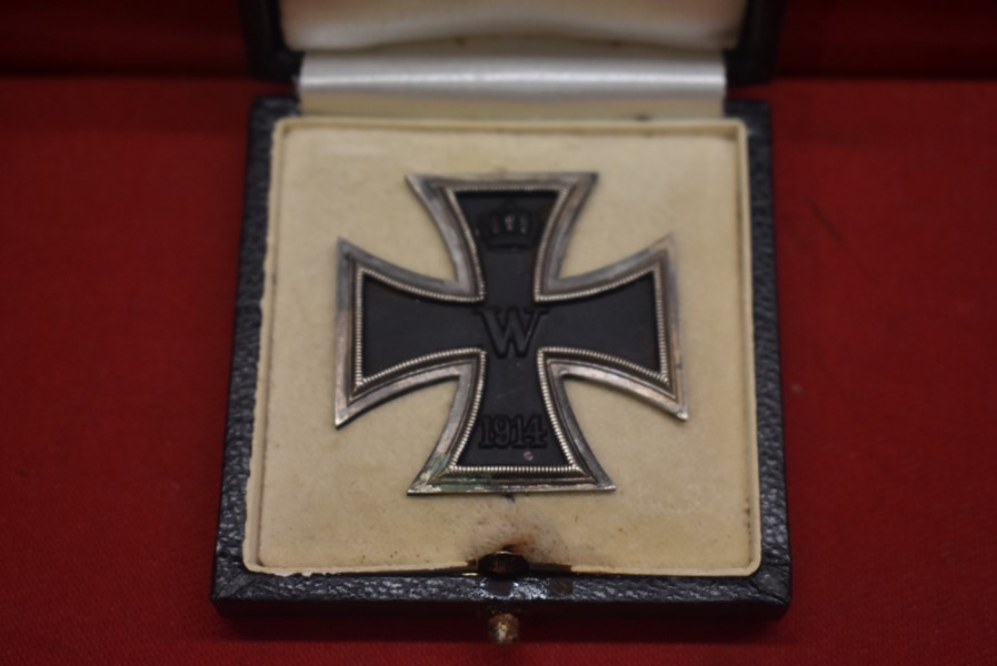 CASED WW1 GERMAN IRON CROSS FIRST CLASS-SOLD...
