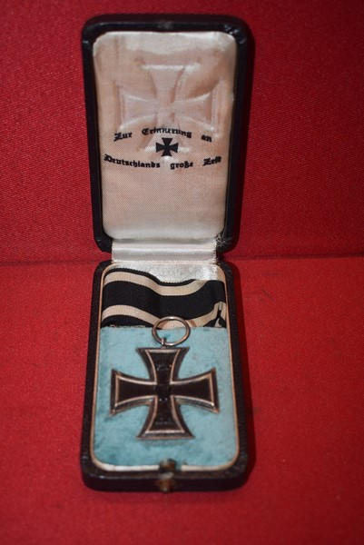 CASED WW1 GERMAN IRON CROSS SECOND CLASS-SOLD