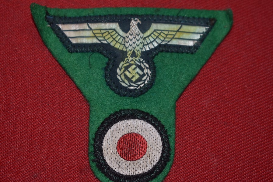 WW2 GERMAN MOUNTAIN TROOPS CLOTH CAP EAGLE WITH COCKADE
