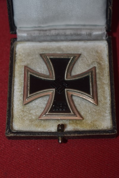 WW2 GERMAN CASED IRON CROSS 1ST CLASS-SOLD