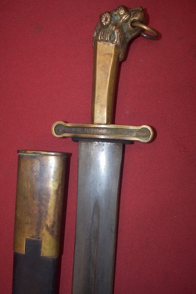 18TH CENTURY BRITISH BANDSMANS SHORT SWORD/SIDE ARM.