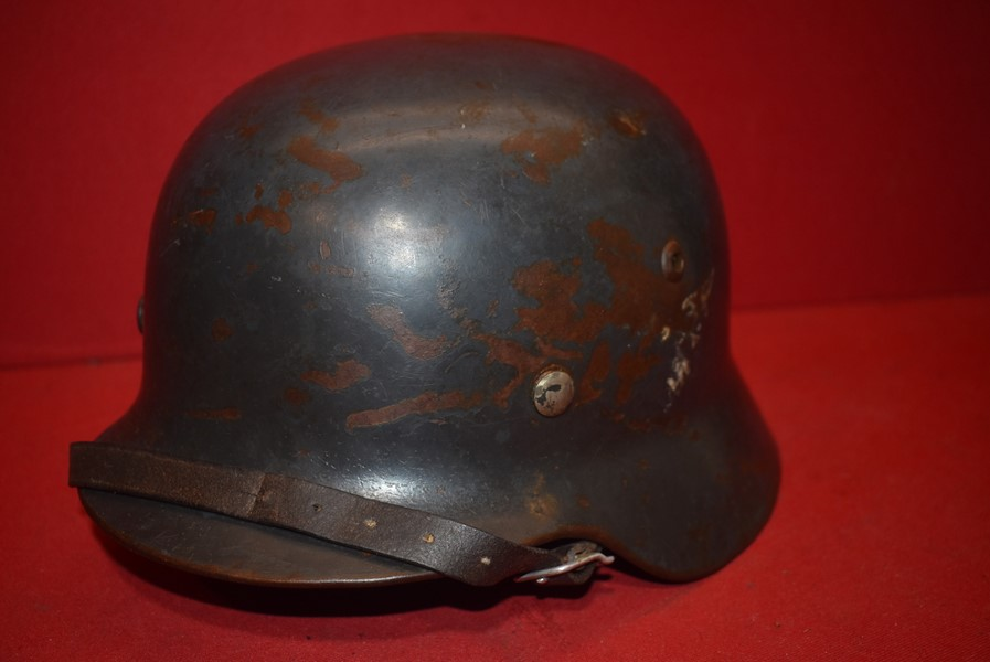 WW2 GERMAN M35 DOUBLE DECAL LUFTWAFFE HELMET.
