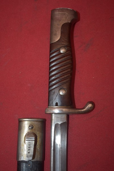 GERMAN 1898 PATTERN BAYONET WITH SCABBARD-SOLD