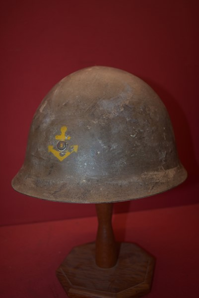 WW2 JAPANESE TYPE 91 NAVAL LANDING FORCE HELMET BOUGANVILLE PICKUP