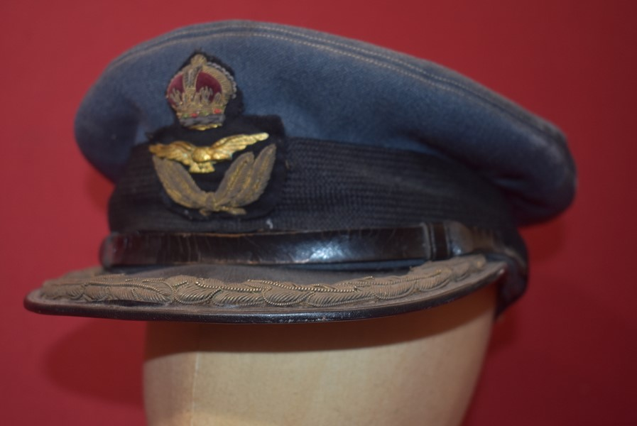 WW2 RAF GROUP CAPTAINS PEAK HAT-SOLD